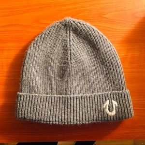 True Religion Ribbed Gray Beanie
